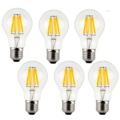 8W E27 LED Filament Bulb A60 Decorative AC 220 - 240V 6PCS