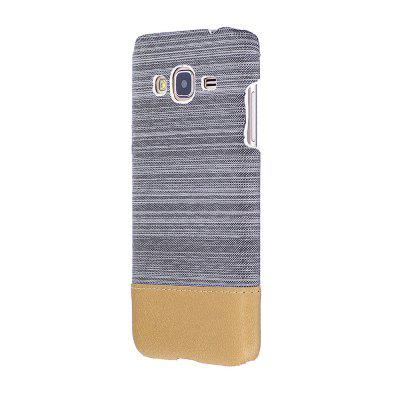 Buy WHITE Wkae Jeans Canvas Leather Back Case Cover for Samsung Galaxy J310 for $5.28 in GearBest store