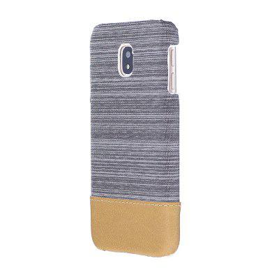 Buy WHITE Wkae Jeans Canvas Leather Back Case Cover for Samsung Galaxy J730 European Edition for $5.28 in GearBest store
