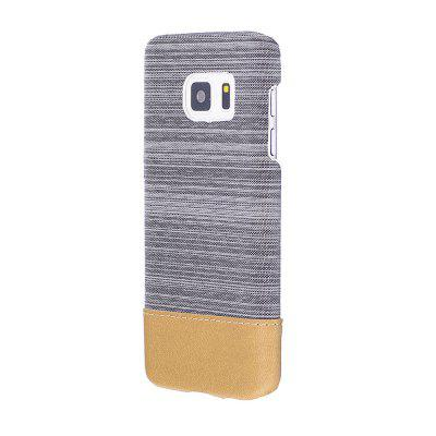 Buy WHITE Wkae Jeans Canvas Leather Back Case Cover for Samsung Galaxy S7 for $5.28 in GearBest store