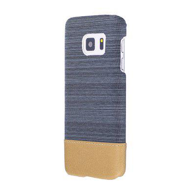Buy GRAY Wkae Jeans Canvas Leather Back Case Cover for Samsung Galaxy S7 for $5.28 in GearBest store