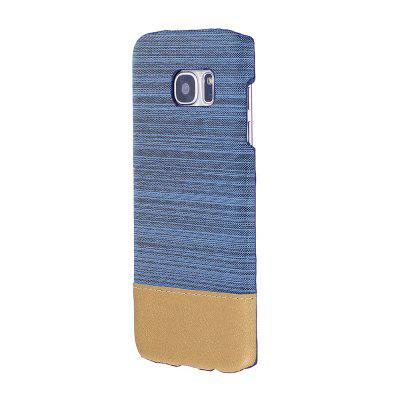 Wkae Jeans Canvas Leather Back Case Cover for Samsung Galaxy S7 Edge