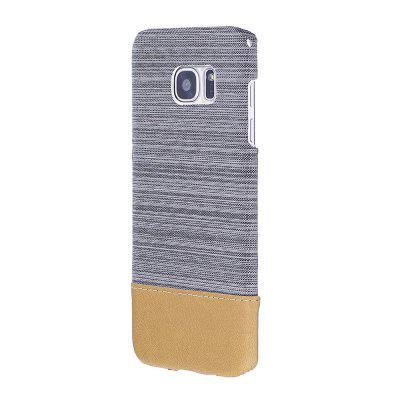 Buy WHITE Wkae Jeans Canvas Leather Back Case Cover for Samsung Galaxy S7 Edge for $5.28 in GearBest store