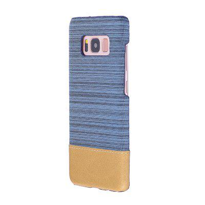 Buy BLUE Wkae Jeans Canvas Leather Back Case Cover for Samsung Galaxy S8 for $5.28 in GearBest store