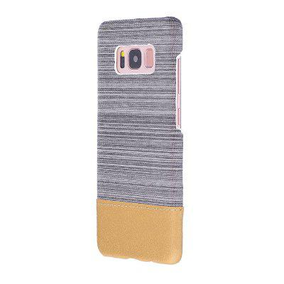 Buy WHITE Wkae Jeans Canvas Leather Back Case Cover for Samsung Galaxy S8 for $5.28 in GearBest store