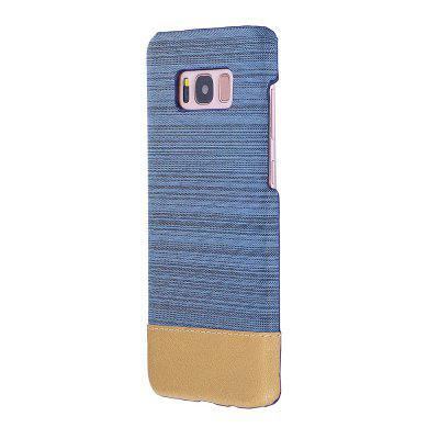 Buy BLUE Wkae Jeans Canvas Leather Back Case Cover for Samsung Galaxy S8 Plus for $5.28 in GearBest store