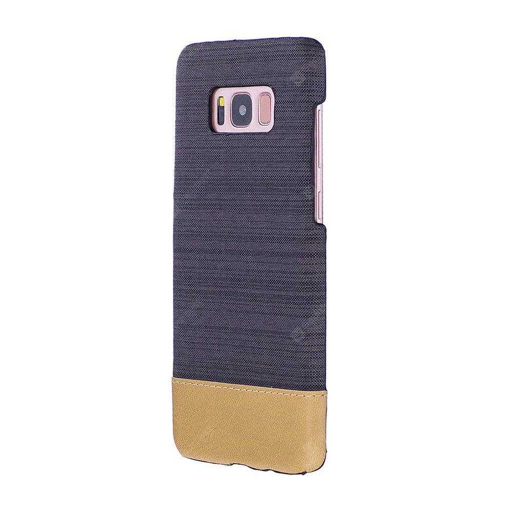 Wkae Jeans Canvas Leather Back Case Cover for Samsung Galaxy S8 Plus