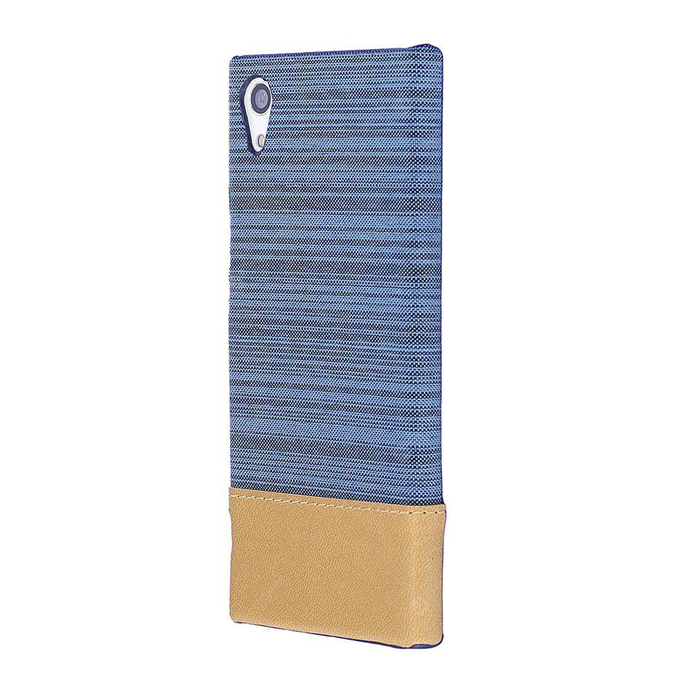 Wkae Jeans Canvas Leather Back Case Cover Sony Xperia XA1