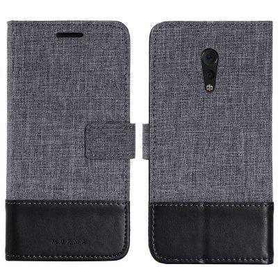 MUXMA Durable Canvas Design Flip PU Leather Wallet Case for VIVO Xplay 6