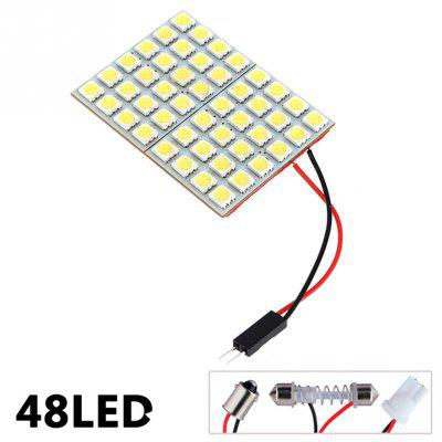 1 Set T10 5050 48-SMD Multi-Functional Durable LED Car Reading LampCar Lights<br>1 Set T10 5050 48-SMD Multi-Functional Durable LED Car Reading Lamp<br><br>Apply lamp position: Interior Lights<br>Apply To Car Brand: Universal<br>Connector: T10<br>Lumens: 960ml<br>Package Contents: 1 X  Car Light<br>Package size (L x W x H): 10.00 x 10.00 x 5.00 cm / 3.94 x 3.94 x 1.97 inches<br>Package weight: 0.0250 kg<br>Product size (L x W x H): 6.00 x 4.00 x 3.00 cm / 2.36 x 1.57 x 1.18 inches<br>Product weight: 0.0200 kg<br>Type: Reading Lamp, Turn Signal Light, Car LED<br>Type of lamp-house: LED