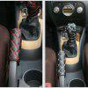 1Set Car Accessory Decoration Hand Brake + Gear + Rear View Mirror Cover - RED WINE