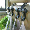 Car Hook Portable Durable Double Vehicle Hangers - BLACK