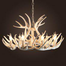 Antler Chandeliers American Country Sitting Room Bedroom Mediterranean Resin Droplight Creative Personality Internet Cafe Cafe Restaurant