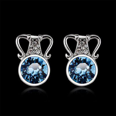 Ocean Blue Diamond 10K White Gold Earrings for WomenEarrings<br>Ocean Blue Diamond 10K White Gold Earrings for Women<br><br>Back Finding: Screw-back<br>Diameter: 0.9 cm<br>Earring Type: Stud Earrings<br>Gender: For Women<br>Material: Alloy<br>Metal Type: Zinc Alloy<br>Occasion: Party<br>Package Contents: 1 x Earrings (pair)<br>Package size (L x W x H): 36.00 x 26.00 x 24.00 cm / 14.17 x 10.24 x 9.45 inches<br>Package weight: 0.0230 kg<br>Setting Type: Tension Mount<br>Shape/Pattern: Round<br>Size (CM): 1.0 x 0.9 cm<br>Stone Color: Blue<br>Style: Romantic<br>Surface Plating: Silver Plated