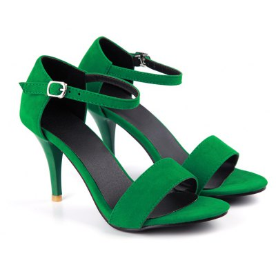 Women's Sandals D'Orsay & Two-Piece Leatherette Summer Party & Evening Buckle Hollow-out Stiletto Heel
