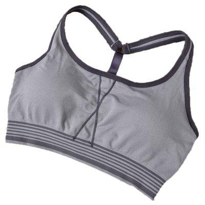 Buy GREY T4503/1001# M Latest High Impact Padded Stretch Seamless Sport Bra with Y Shape Strap for $11.45 in GearBest store