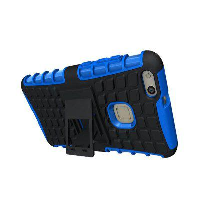 Hard TPU + PC Armor Case with Stand Silicone Hybrid Protective Back Cover Shell for Huawei P10 Lite