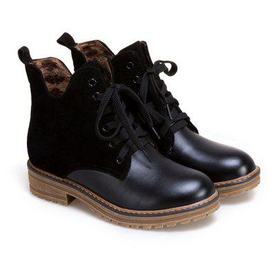 The New Fashion and Comfortable with The Short BootsWomens Boots<br>The New Fashion and Comfortable with The Short Boots<br><br>Boot Height: Ankle<br>Boot Type: Western<br>Closure Type: Lace-Up<br>Gender: For Women<br>Heel Height: 3.5<br>Heel Height Range: Low(0.75-1.5)<br>Heel Type: Low Heel<br>Outsole Material: TPR<br>Package Contents: 1 x Shoes?pair?<br>Pattern Type: Patchwork<br>Season: Spring/Fall, Winter<br>Toe Shape: Round Toe<br>Upper Material: PU<br>Weight: 1.0080kg
