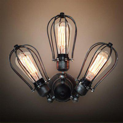 WestMenLights C3002 Black Wrought Iron Industrial Adjustable Wall Sconce Rustic Lamp