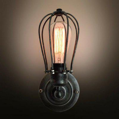 S1004 Globe 1 Light Cage Wall Sconce