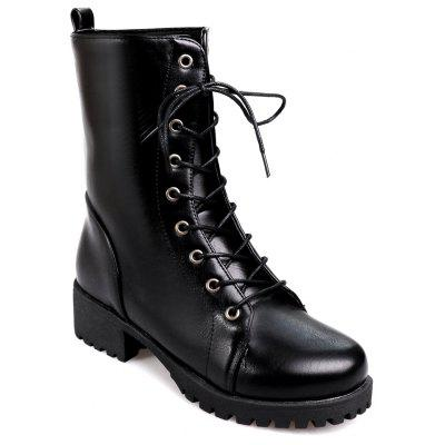 Buy BLACK 36 Women's Martin Boots Fashion Lacing Comfy All Match Boots for $59.52 in GearBest store