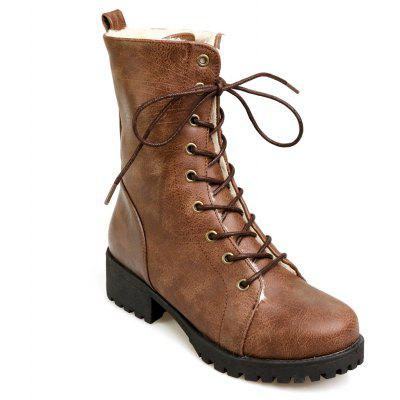 Buy BROWN 36 Women's Martin Boots Fashion Lacing Comfy All Match Boots for $59.52 in GearBest store