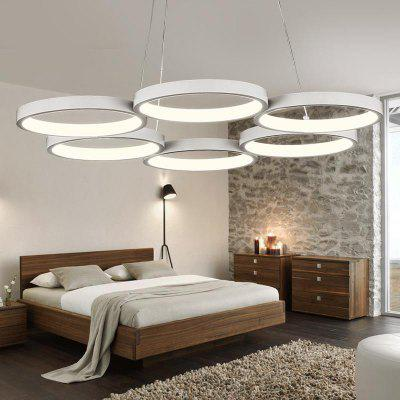 White Round Shape Modern Round Iron Acrylic Plating Modern Home Ceiling Light