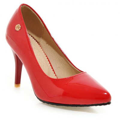 Buy RED 36 Women's Heels Formal Shoes Leatherette Spring Fall Wedding Dress Formal Shoes Stiletto Heel for $45.91 in GearBest store