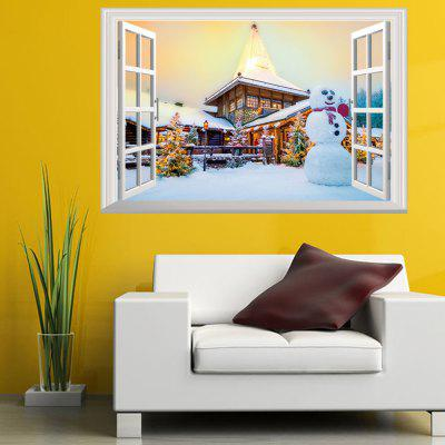Buy New Year Christmas New 3D Window Snow Scene Snowman Christmas Tree, COLORMIX, Home & Garden, Home Decors, Wall Art, Wall Stickers for $4.01 in GearBest store