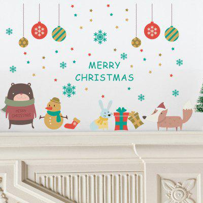 tree merry christmas wall stickers mural decal paper winter art holiday room decor - Christmas Wall Decal