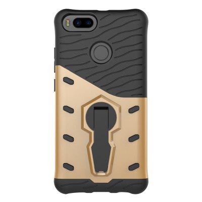 Buy ASLING TPU Bumper PC Cover Kickstand Case for Xiaomi A1 BLACK AND GOLDEN for $3.40 in GearBest store