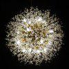 ZUOGE Designer Spark Ball Round Creative Chandelier Crystal Ball Art Chandelier-110V - MARIGOLD