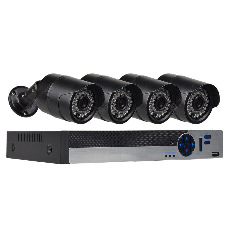 4 Channel Security Camera System with 4ch 1080N Ahd Dvr 4 x 2.0MP  Weatherproof  Camera with Night Vision