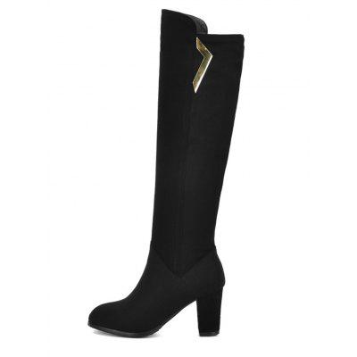 Womens Knee Length Boots Round Toe Sweet Style All Match High Heel ShoesWomens Boots<br>Womens Knee Length Boots Round Toe Sweet Style All Match High Heel Shoes<br><br>Boot Height: Knee-High<br>Boot Tube Height: 40<br>Boot Type: Fashion Boots<br>Closure Type: Slip-On<br>Embellishment: Metal<br>Gender: For Women<br>Heel Height: 8<br>Heel Height Range: High(3-3.99)<br>Heel Type: Chunky Heel<br>Package Contents: 1 x Shoes(pair)<br>Pattern Type: Solid<br>Season: Spring/Fall, Winter<br>Toe Shape: Round Toe<br>Upper Material: Flock<br>Weight: 1.6588kg