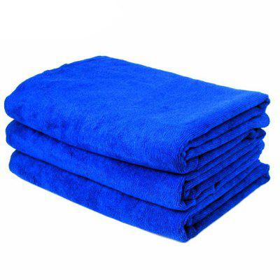 Buy BLUE 160x60cm Soft Blue Microfiber Cleaning Towel Car Auto Wash Dry Clean Cloth for $6.17 in GearBest store
