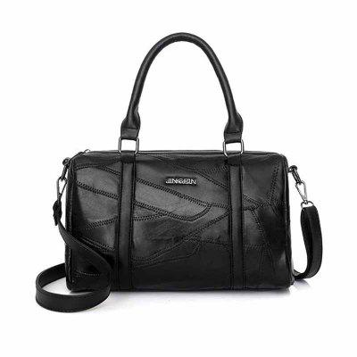 Buy BLACK HORIZONTAL Casual Splicing Single Shoulder Bag for $26.24 in GearBest store