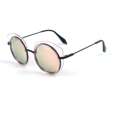 Buy PINK FRAME+PINK LENS TOMYE 55907 2018 New PC Metal Cat Eye Women Polarized Sunglasses for $16.55 in GearBest store