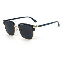 TOMYE 55911 2018 New Fashion PC Metal Square Frame Color Polarized Sunglasses for Women and Men