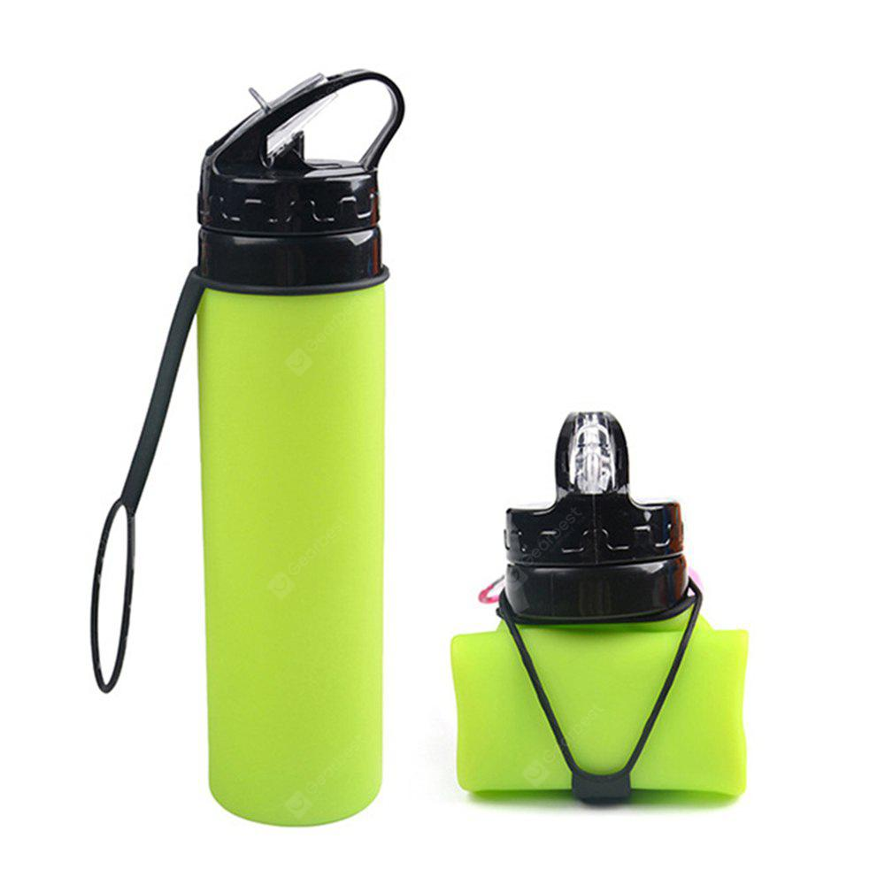 OS002 Portable Folding Leakproof Silicone Water Bottle Kettle Cup Outdoor Sport Camping
