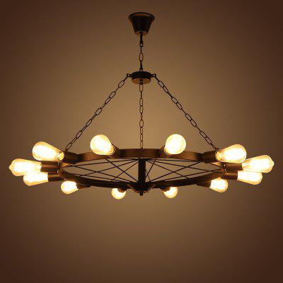 Buy American Country Industrial Wind Restoring Ancient Ways of Creative Personality Cafe Restaurant Bar Corridor Clothing Store Wheel Droplight, BLACK, LED Lights & Flashlights, Ceiling Lights, Pendant Light for $206.90 in GearBest store