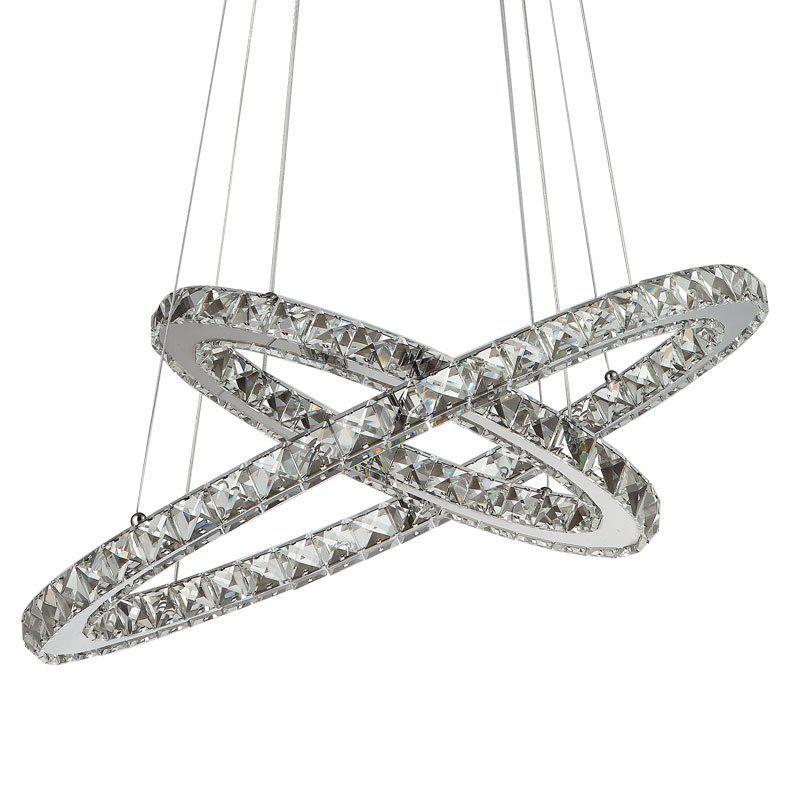 Simple Modern Crystal Chandelier Lamp Table Led Meals Chandeliers New Bedroom Oval Droplight Dining Room Lighting
