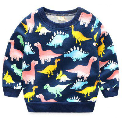 Gearbest Baby's dinosaur pattern long sleeved sweater