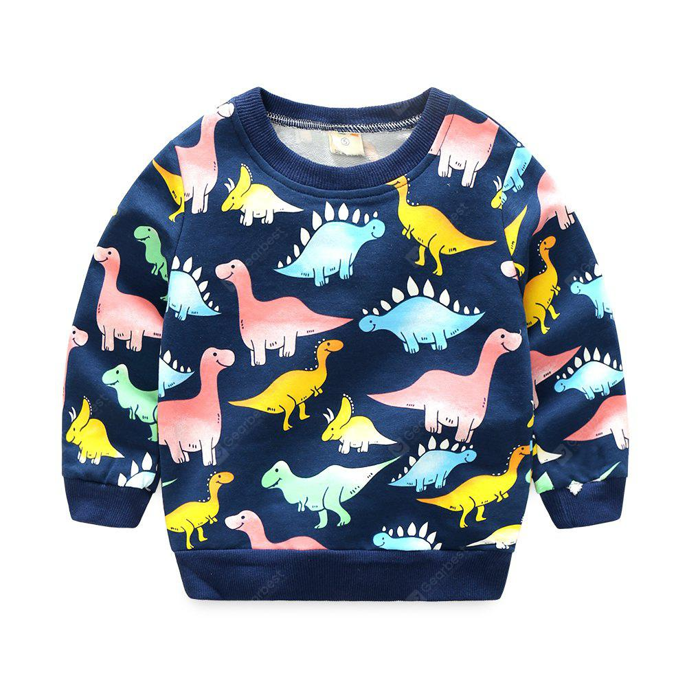 Baby Boy Dinosaur Models Sweater Long Sleeved Cartoon Cotton Pullover for Spring and Autumn
