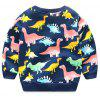 Baby Boy Dinosaur Models Sweater Long Sleeved Cartoon Cotton Pullover for Spring and Autumn - CADETBLUE