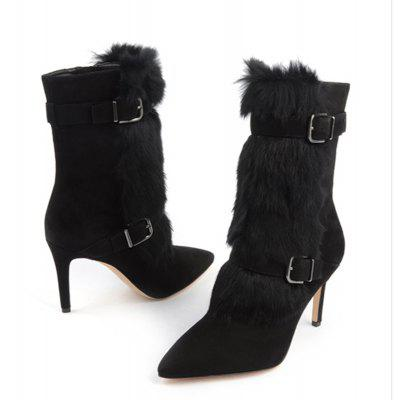 Womens Boots Formal Shoes Leatherette Winter Dress Zipper Stiletto HeelWomens Boots<br>Womens Boots Formal Shoes Leatherette Winter Dress Zipper Stiletto Heel<br><br>Boot Height: Mid-Calf<br>Boot Tube Circumference: 35<br>Boot Tube Height: 15<br>Boot Type: Fashion Boots<br>Closure Type: Zip<br>Embellishment: Buckle<br>Gender: For Women<br>Heel Height: 12<br>Heel Height Range: Super High(Above4)<br>Heel Type: Stiletto Heel<br>Insole Material: PU<br>Lining Material: PU<br>Outsole Material: Rubber<br>Package Contents: 1xShoes(pair)<br>Pattern Type: Solid<br>Platform Height: 1<br>Season: Winter<br>Shoe Width: Medium(B/M)<br>Toe Shape: Pointed Toe<br>Upper Material: PU<br>Weight: 1.9800kg