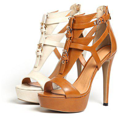 Womens Sandals Formal Shoes Leatherette Summer Party Buckle Zipper Stiletto HeelWomens Sandals<br>Womens Sandals Formal Shoes Leatherette Summer Party Buckle Zipper Stiletto Heel<br><br>Available Color: Beige Brown<br>Available Size: 34-43<br>Closure Type: Zip<br>Embellishment: Buckle<br>Gender: For Women<br>Heel Height: 12<br>Heel Height Range: Super High(Above4)<br>Heel Type: Stiletto Heel<br>Insole Material: PU<br>Lining Material: PU<br>Occasion: Party<br>Outsole Material: Rubber<br>Package Content: 1xShoes(pair)<br>Pattern Type: Solid<br>Platform Height: 3<br>Sandals Style: Gladiator<br>Shoe Width: Medium(B/M)<br>Style: Sexy<br>Technology: Adhesive<br>Upper Material: PU<br>Weight: 1.5400kg