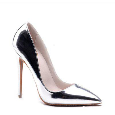 Buy SILVER 40 Women's Heels Formal Shoes Leatherette Summer Fall Wedding Party Stiletto Heel Silver Gold for $52.99 in GearBest store