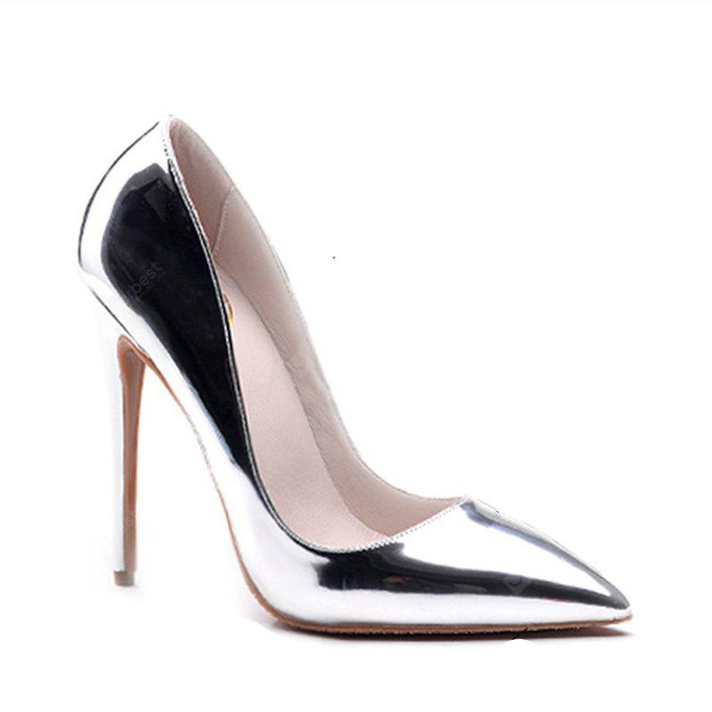 SILVER 42 Women's Heels Formal Shoes Leatherette Summer Fall Wedding Party Stiletto Heel Silver Gold