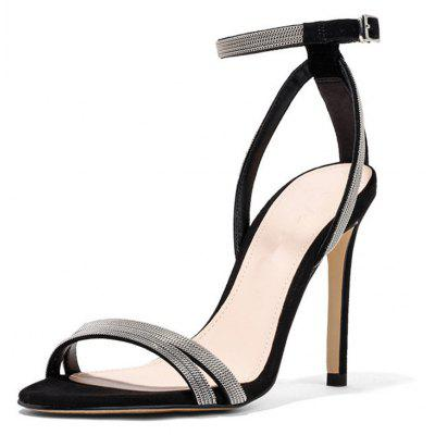 Women Sandals Basic Stiletto Heel ChainWomens Sandals<br>Women Sandals Basic Stiletto Heel Chain<br><br>Available Color: Black Beige<br>Available Size: 34-43<br>Closure Type: Buckle Strap<br>Embellishment: Chains<br>Gender: For Women<br>Heel Height: 12<br>Heel Height Range: Super High(Above4)<br>Heel Type: Stiletto Heel<br>Insole Material: PU<br>Lining Material: PU<br>Occasion: Wedding<br>Outsole Material: Rubber<br>Package Content: 1xShoes(pair)<br>Pattern Type: Solid<br>Platform Height: 1<br>Sandals Style: Ankle Strap<br>Shoe Width: Medium(B/M)<br>Style: Sexy<br>Technology: Adhesive<br>Upper Material: PU<br>Weight: 1.5400kg