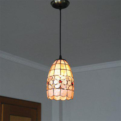 Modern Art Nordic Shell Patch Lamp Shade Lustre Hanging Pendant Light Fixtures Handicrafts Chandelier Restaurant Kitchen Luminaire BKDD-11